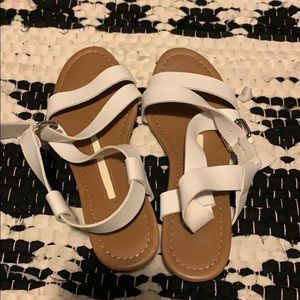 New Direction White Sandals Size 7